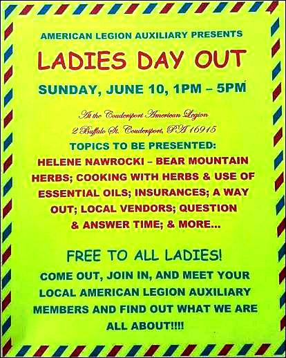 6-10 Ladies Day Out, Coudersport