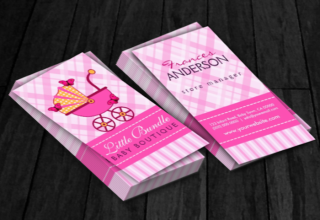 Sunny Mars Designs Baby Boutique Business Cards