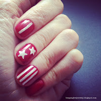 DIY stars and stripes manicure nail art tutorial