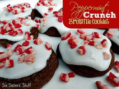 Peppermint Crunch Brownie Cookies Recipe/Six Sisters' Stuff | Six ...