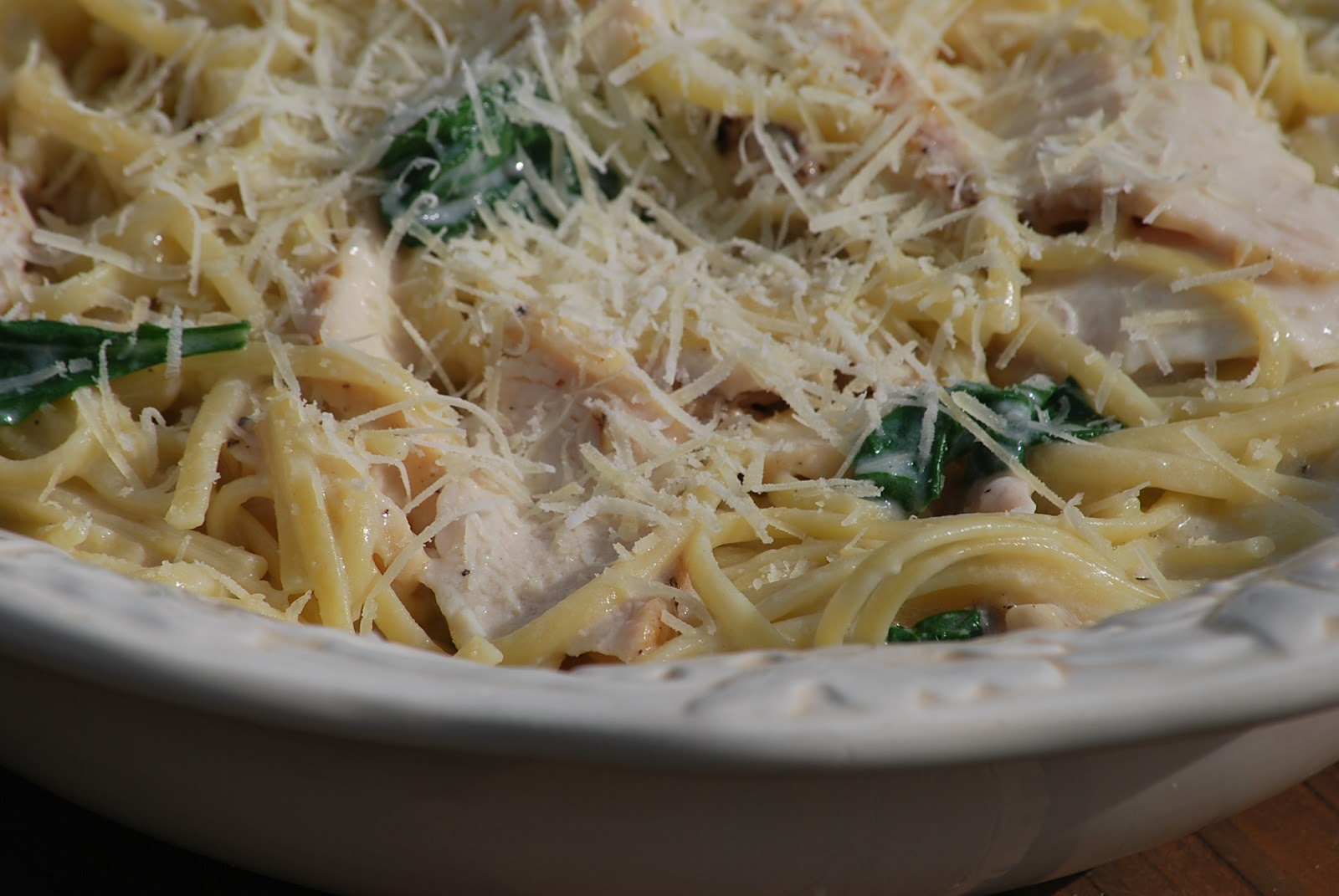 My story in recipes: Grilled Chicken Florentine Pasta