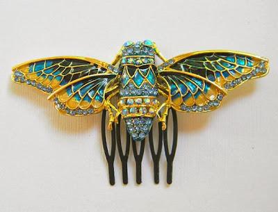 Etsy Dana Castle Cicada Hair Comb