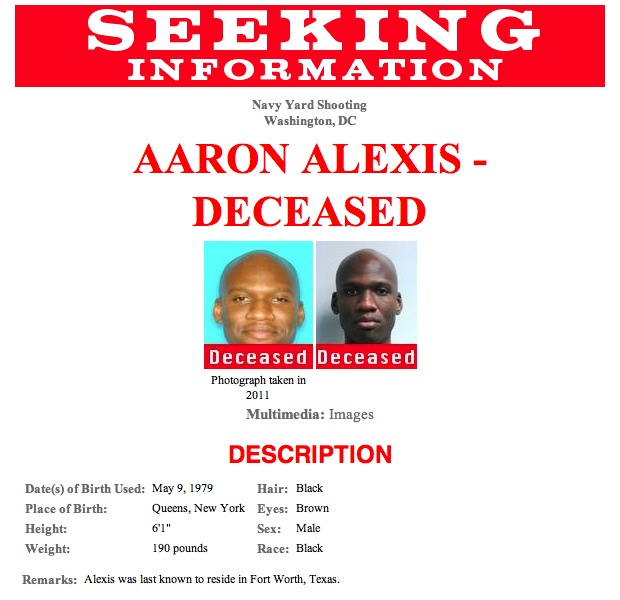 Navy Yard Shooting Fbi Video Shows Gunman Aaron Alexis: Pressing Issues: Live Blog On Shootings At U.S. Navy Yard