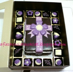 SET CHOC RECTANGLE BOX W 32 PRALINES ~ SIZE 'L'