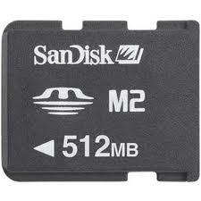 Cartao De Memoria Stick Micro M2 De 512mb Sandisk
