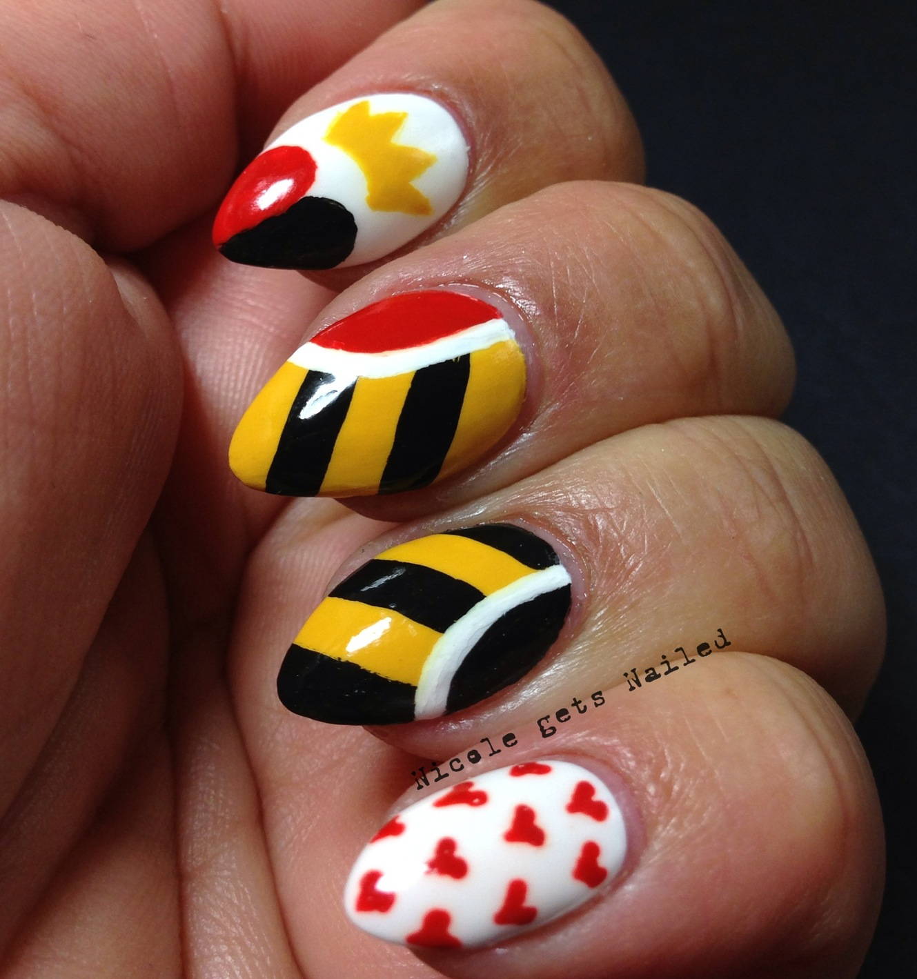 Nicole gets Nailed: Q is for Queen of Hearts