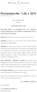 Proclamation No. 1128