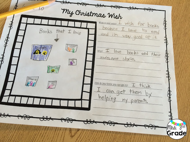 Having students write about their Christmas wishes is a great way to have them reflect on what they really want for Christmas