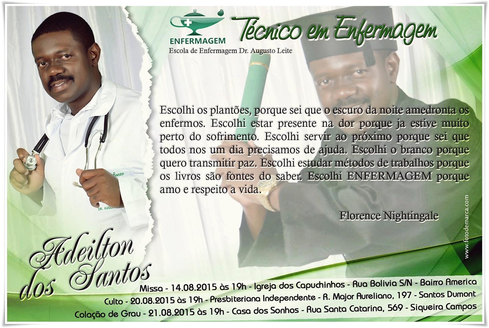 Convite Curso Técnico Em Enfermagem Epsal Formaturacomfotodemarca