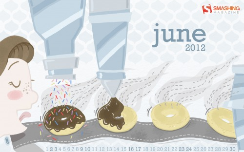 National Doughnut Month Desktop