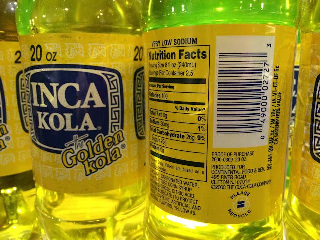 Inca Kola from New Jersey