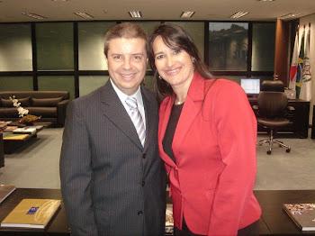 Marta Lança e Governador Anastasia