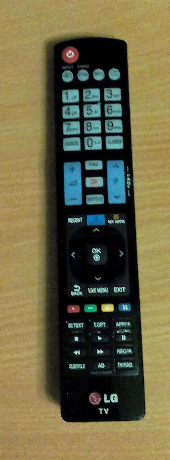 Пульт дистанционного управления лоя Телевизор LG 32LB650V