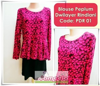 BLOUSE PEPLUM RINDIANI From RM37/pcs