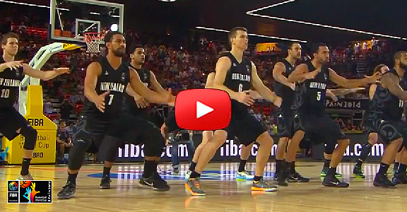 New Zealand's Haka Dance vs. USA (VIRAL VIDEO) 2014 FIBA Basketball World Cup