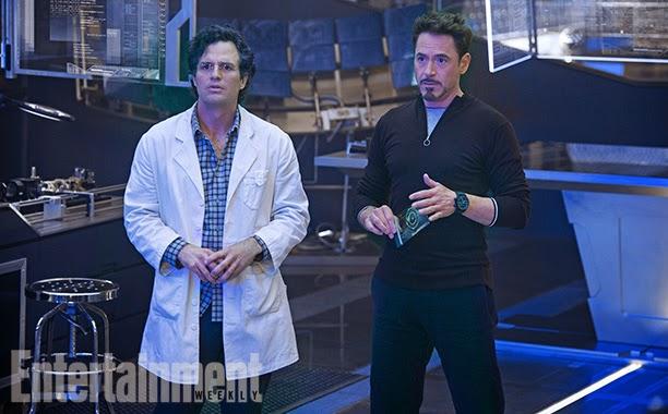 Mark Ruffalo y Robert Downey Jr. en  Los Vengadores: La era de Ultron
