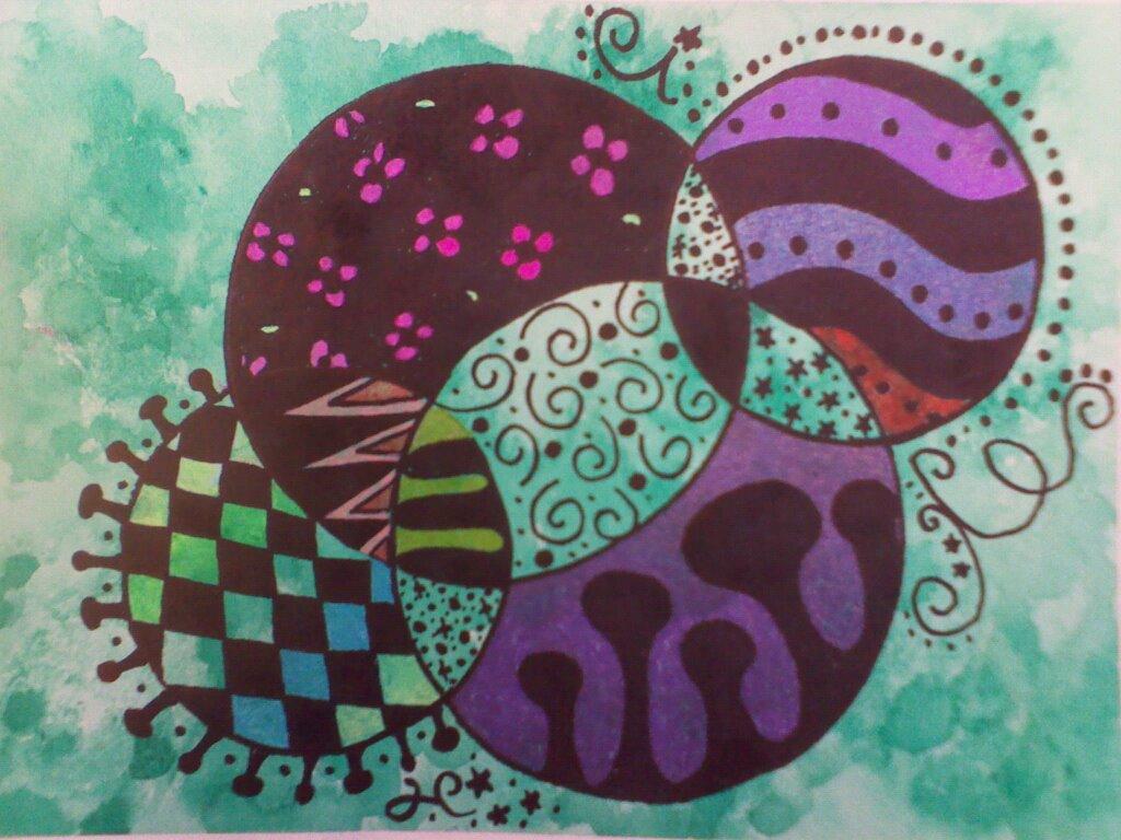 Zentangle Art With Color Zentangle Art Water Color