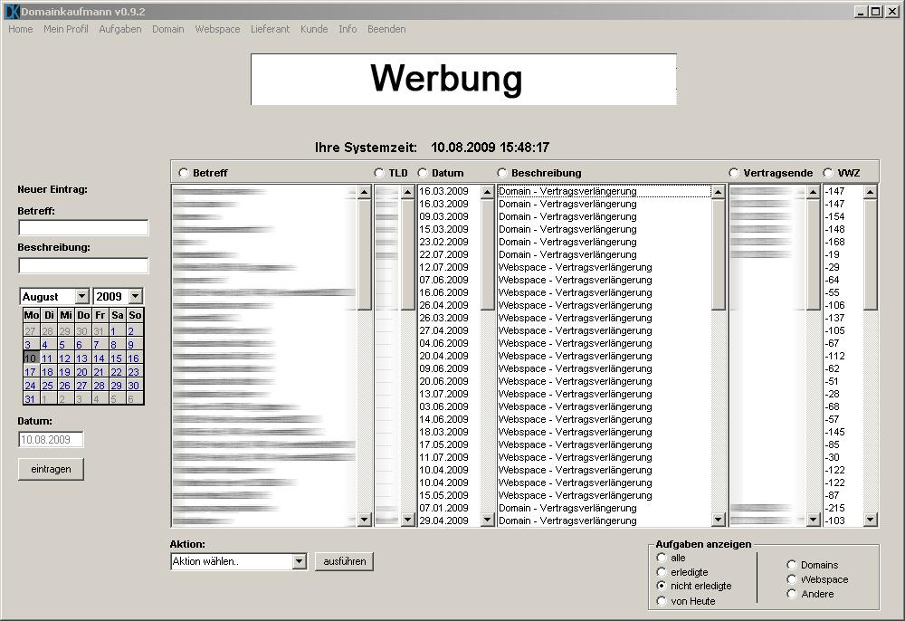 Domainkaufmann software f r hoster und provider for Klassisches haushaltsbuch