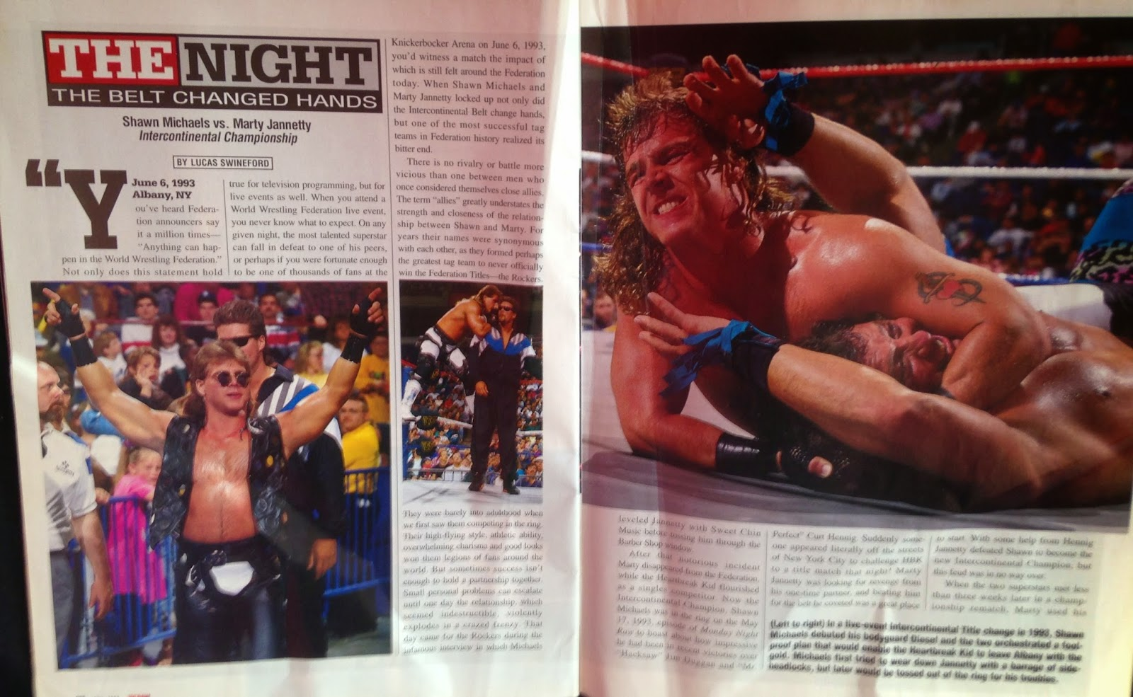 WWE - WWF Raw Magazine - April 1998 - The Night the Belt Changed Hands - Shawn Michaels vs. Marty Jannetty