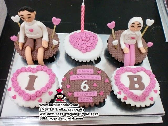 Cupcake Anniversary Cantik Untuk Pacar