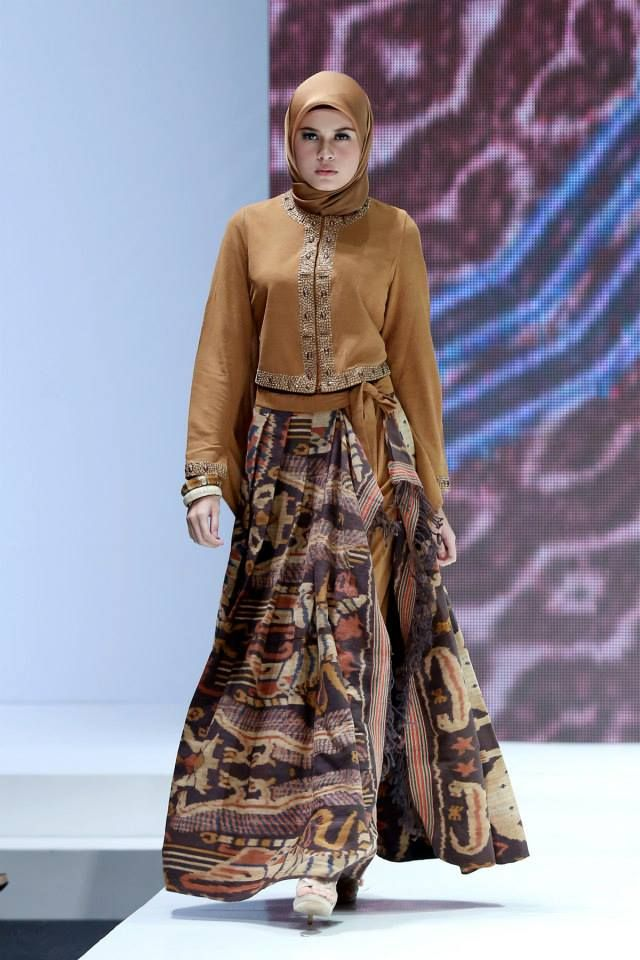 30+ Model Baju Batik Muslim Terbaru 2018