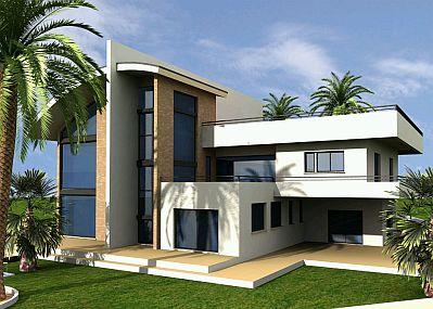 Banco de imagenes y fotos gratis fotos de casas modernas for Plantas de casas modernas con piscina