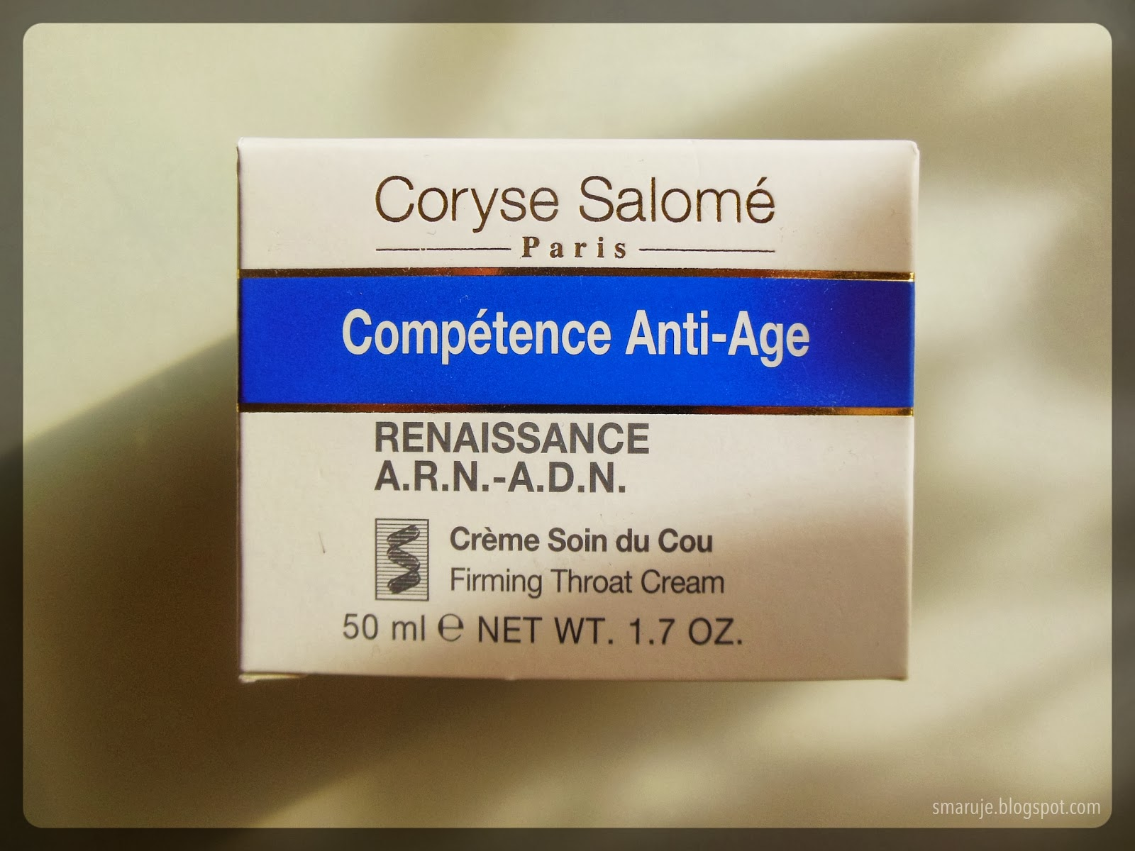 Coryse Salomé – Compétence Anti-Age Firming Throat Cream, czyli krem do szyi, moi mili.