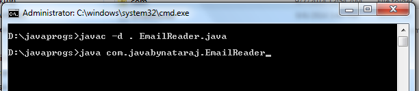 program to read or find emails from the given text file