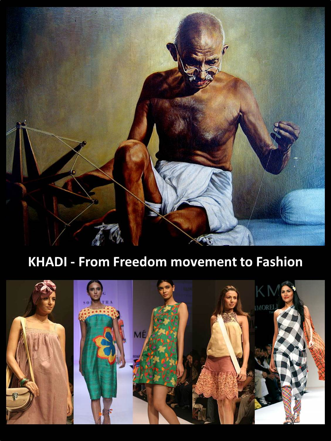 khadi, gandhi, eco friendly fashion, sustainable fashion, designer khadi