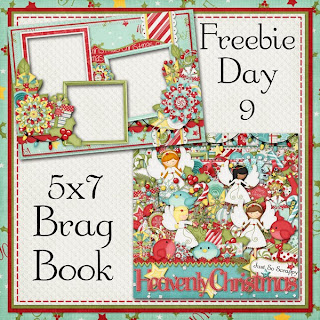 Heavenly Christmas 5x7 Brag Book Freebie day 9