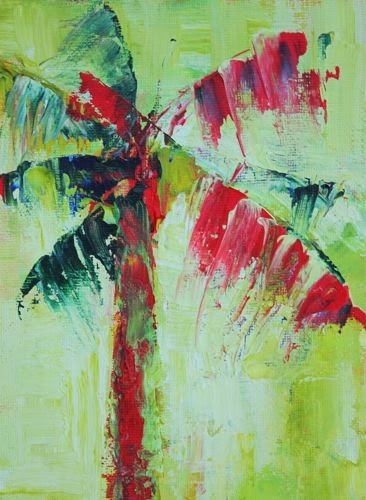 Abstract palm amy whitehouse paintings for Painting palm trees