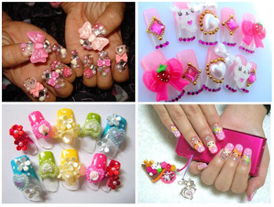 nail nailart 3dnailart arylicnail art kawaii japanese candy design cool best hello kitty candy tokyo178 - Nail Art