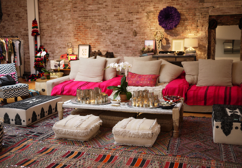 Chic ethnic boho living space T a n y e s h a