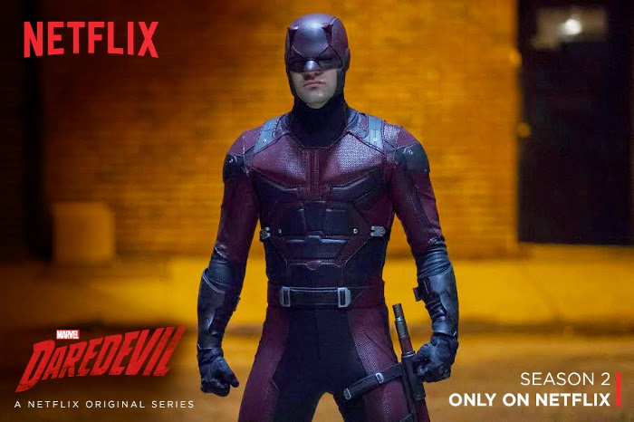 Daredevil's red suit from Marvel's Netflix series.