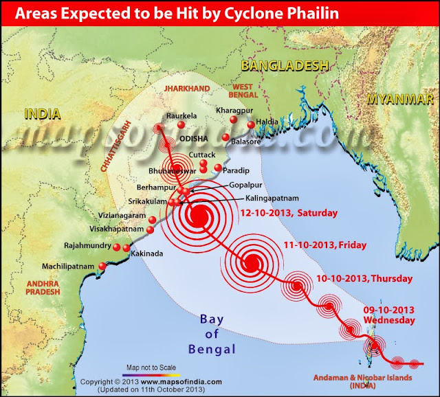Cyclone #Phailin coming to Andhra Pradesh and Orissa, use these websites to track the fury of the cyclone or the aftermath