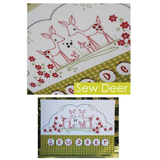 Cinderberry Stitches SEW DEER Stitchery Kit by Natalie Lymer
