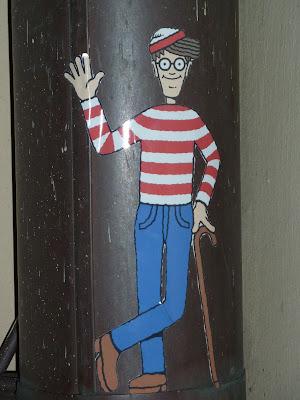 Sticker: Mann mit Stock und Mütze in München