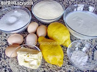 Prajitura cu gris si lamaie toate ingredientele retetei