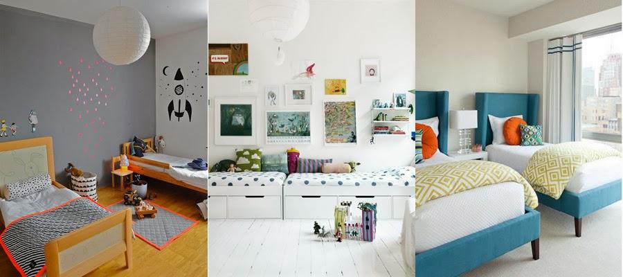 blanco vintage dormitorios infantiles de dos camas