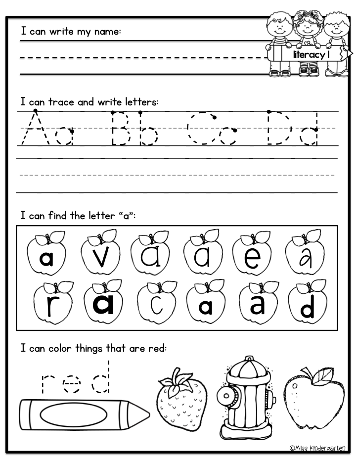 {Kindergarten Morning Work Miss Kindergarten – Morning Worksheets for Kindergarten