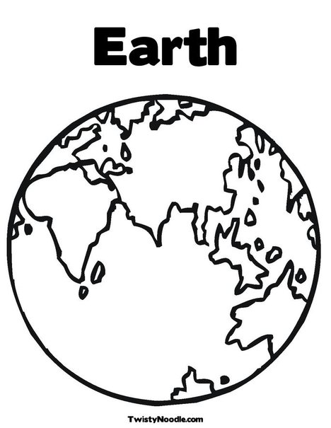 Printable Earth Coloring Page