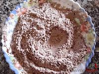 Tronco navideño de ferrero-bizcocho harina y cacao