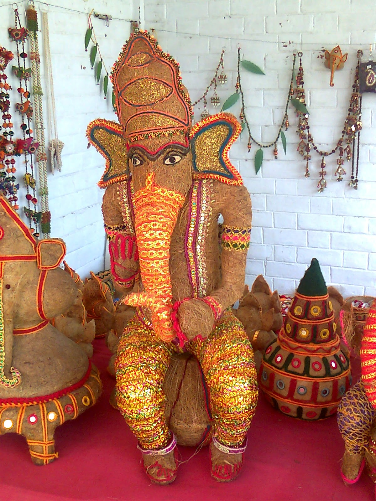 coconut ganesh idol