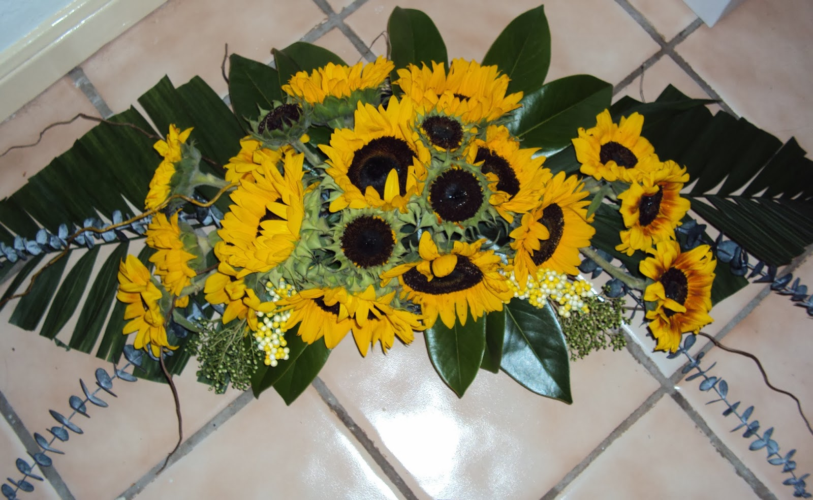Floral Arrangement Sunflowers And Other Yellow Flowers The Art