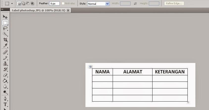 Cara Membuat Tabel di Photoshop - tips, triks dan solusi