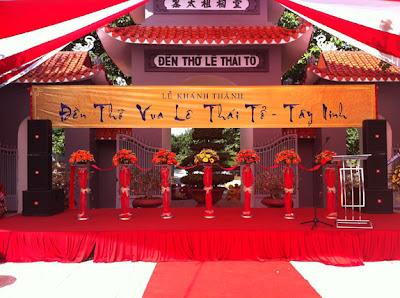 Cho thuê âm thanh, Đền thờ Vua Lê Thái Tổ