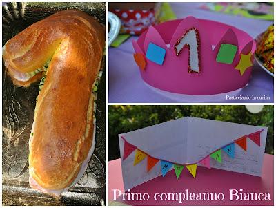 super panino farcito a forma di uno...per un compleanno speciale