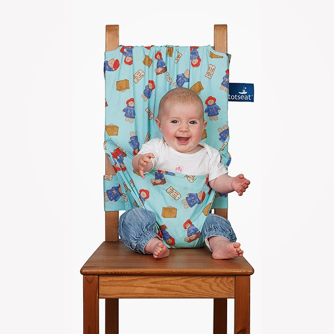 Paddington Bear Tot Seat Fabric Portable Baby High Chair in Blue