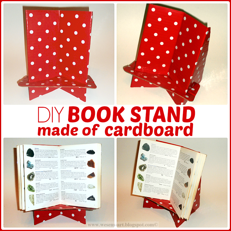 DIY Book Stand  wesens-art.blogspot.com