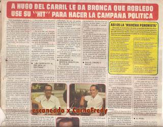 Reportaje a Hugo del Carril del año 1982